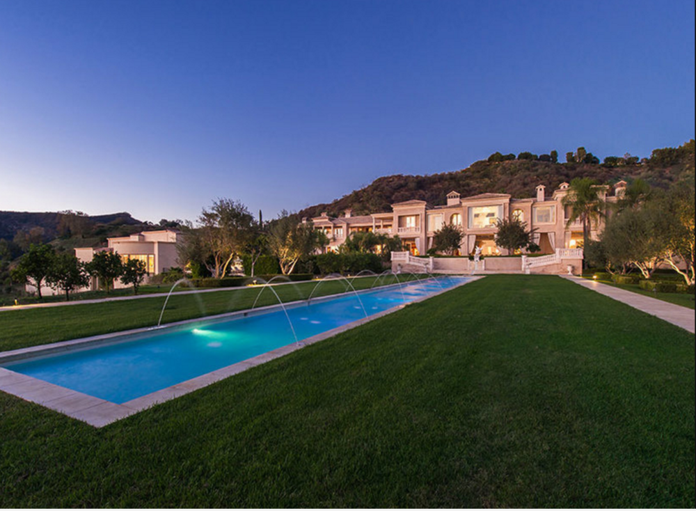 The Mediterranean-style mansion known as Palazzo di Amore sits on 25 acres in Beverly Hills. Marc Angeles