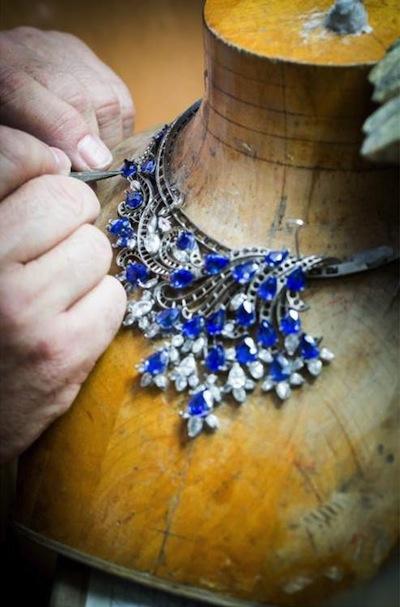 Van Cleef & Arpels' fine jewelry on display at Harrods