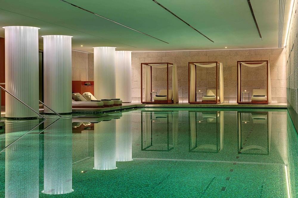 80-foot swimming pool at Bulgari Hotel London (photo credit: Bulgari Hotel)