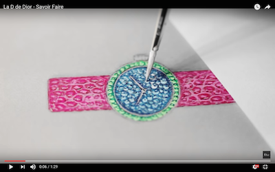 Video still from Dior's craftsmanship film
