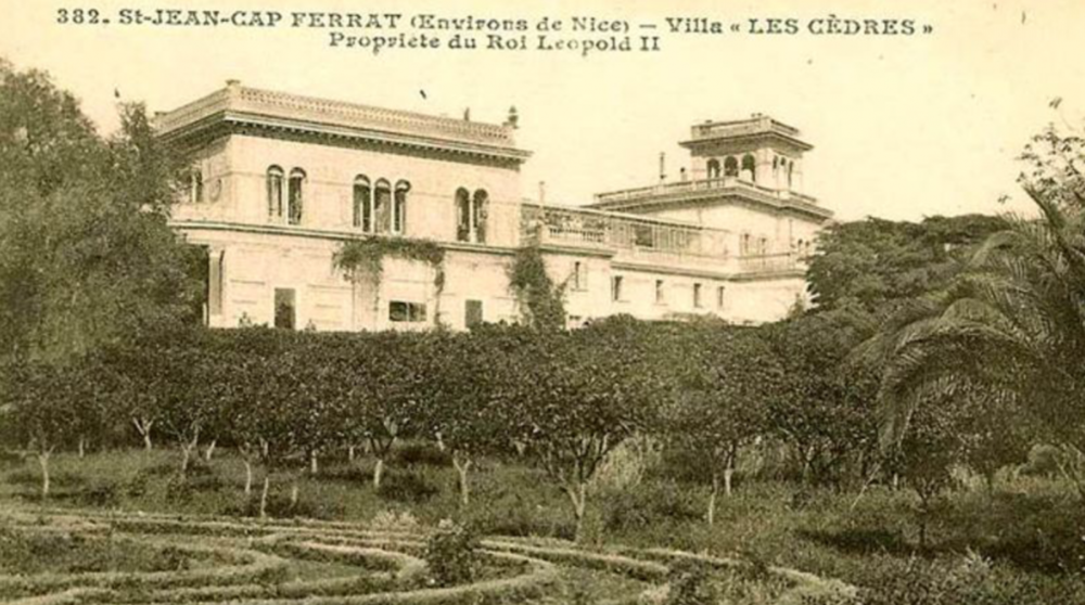 Villa Les Cèdres as it was when King Leopold was its owner