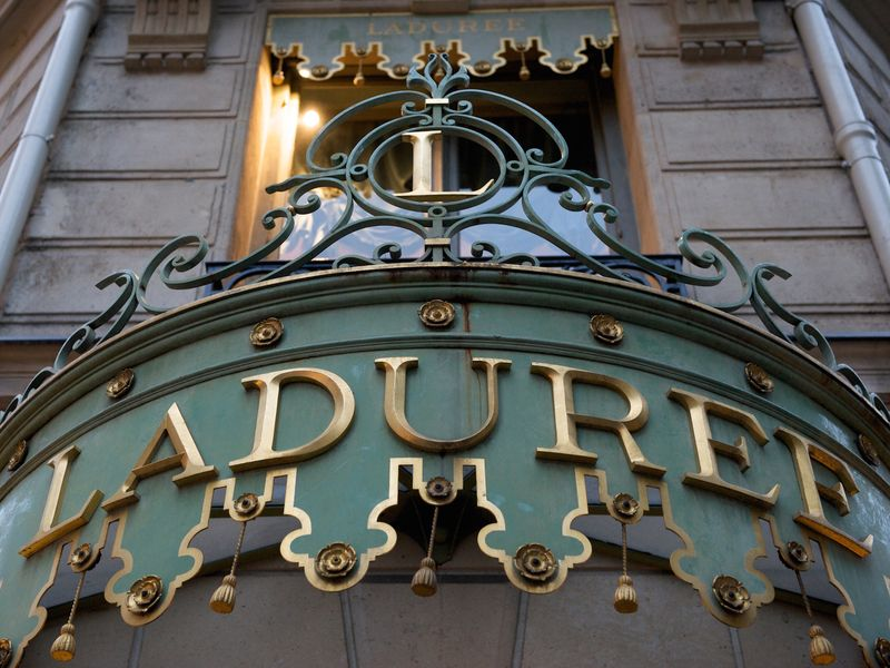 Signage from a Ladurée location in Paris Signage from a Ladurée location in Paris