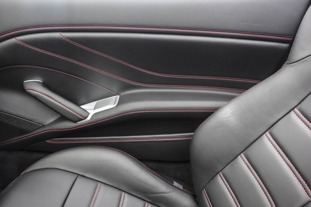 The car comes with contrast stitching and high-quality leather inside.  Photographer: Hannah Elliott/Bloomberg