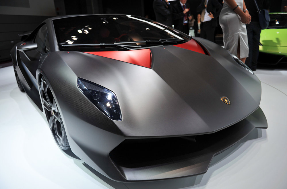 The $2.2 million Lamborghini Sesto Elemento V10 coupe debuted at the 2010 Paris Motor Show. It has a six-speed semi-automatic transmission and a 60-mile-per-hour sprint of 2.5 seconds. Photographer: Antoine Antoniol/Bloomberg