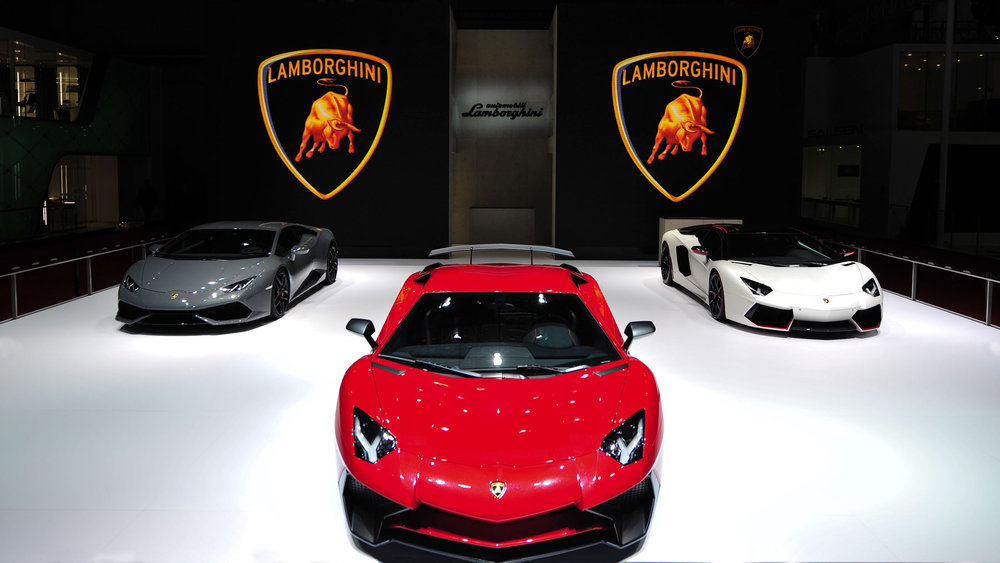 Lamborghini presented the new Aventador LP 750-4 Superveloce at the 2015 Auto Show in Shanghai. Source: Lamborghini via Bloomberg