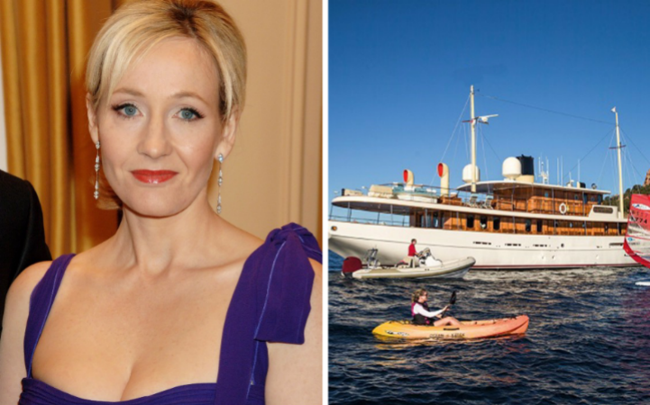 JK Rowling is reportedly selling her yacht, named Amphitrite Credit: Getty / Deadline News / Curtis Stokes and Associates