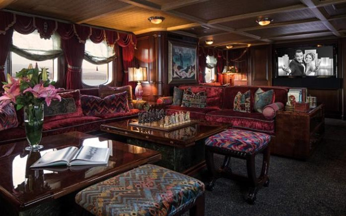 The yacht has a plush interior Credit: Deadline News/Curtis Stokes and Associates