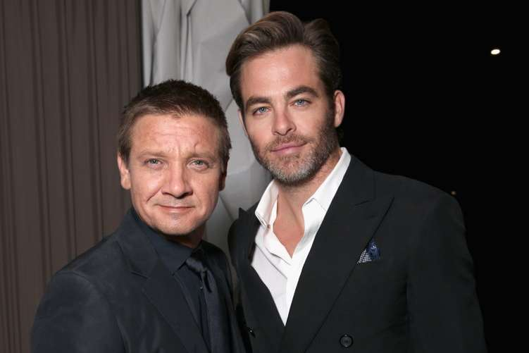 Actors Jeremy Renner (L) and Chris Pine; Photo Credit: Todd Williamson/Getty Images for MPTF