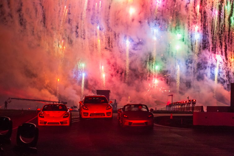 Fireworks at the Porsche Experience Center opening Photo Credit: Porsche North America