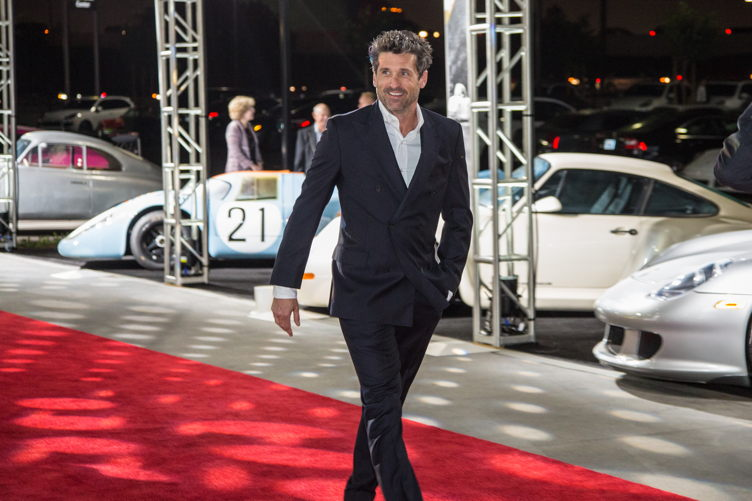 Porsche enthusiast Patrick Dempsey attends the Porsche Experience Center grand opening event Photo Credit: Porsche North America