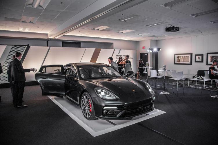 Porsches on display Photo Credit: Porsche North America
