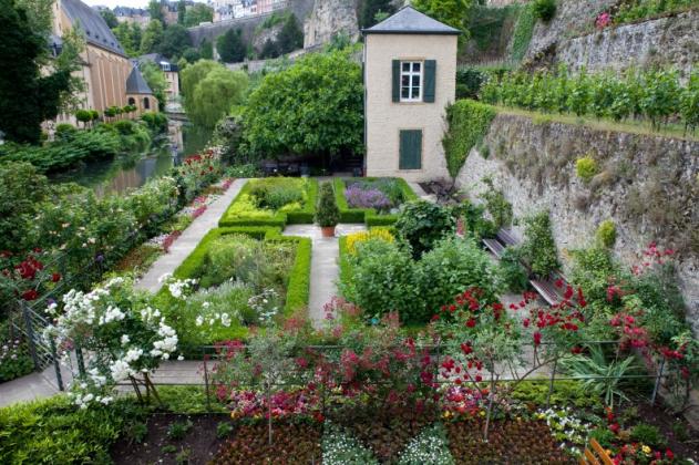 Garden quarter Grund, Luxembourg city