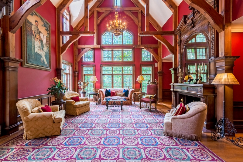 Inspired by centuries-old castles and manors throughout Europe, this luxurious home will be sold at a live auction on September 9, 2017.
