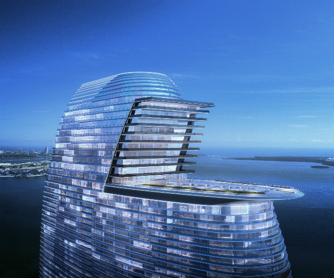 A rendering of Aston Martin and G and G Business Developments' luxury residences in Miami