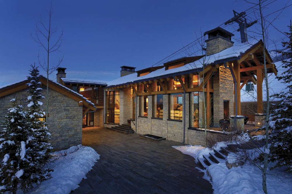 370 Exhibition, a $19.9 million house in Aspen, Colo., listed by Douglas Elliman Real Estate.Photographer: Brandon Huttenlocher Visuals
