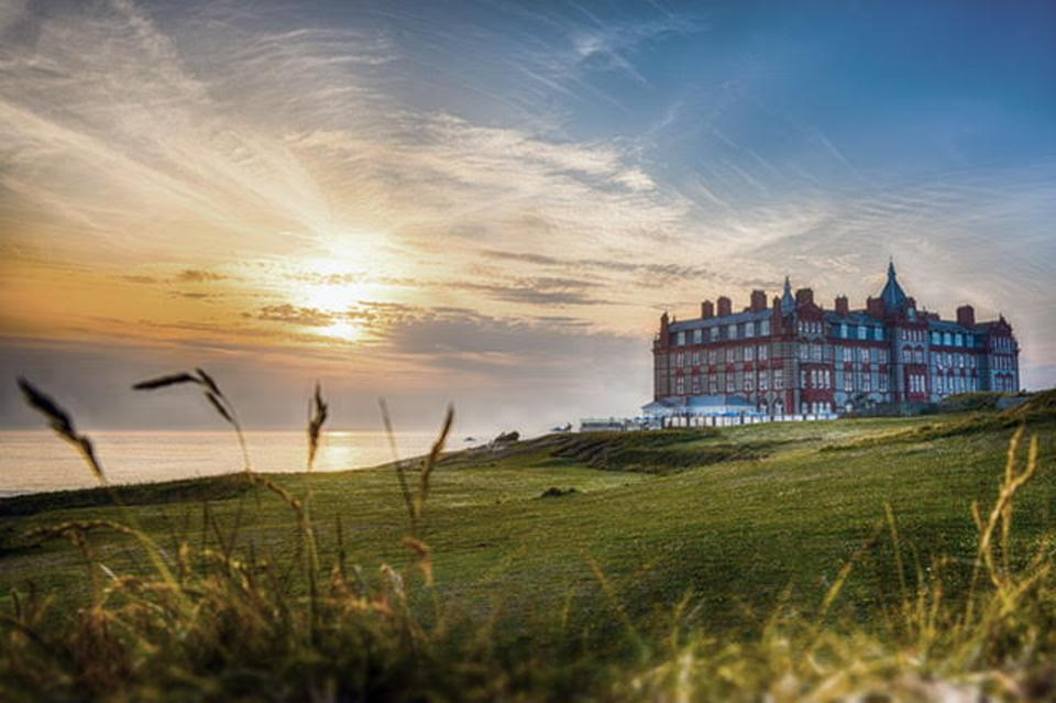 "Booking.com, The Headland Hotel, a stylish Victorian property, was used as the setting for ""The Witches"" and has a bewitching sea-view setting, spa, surf school and golf course."