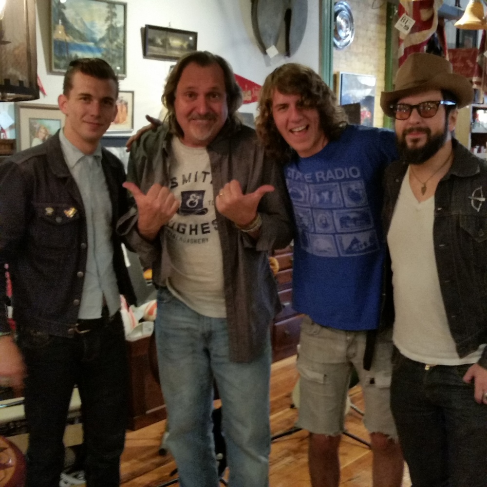 Wyatt Maxwell of Mad Max and the Wild Ones, Russ Evans, Pat Boyers of Desert Noises and Gypsy Cab, Corey Fox