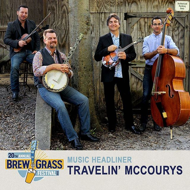 Check it out - @thetravelinmccourys are playing @brewgrassfestival, our sister event next month!