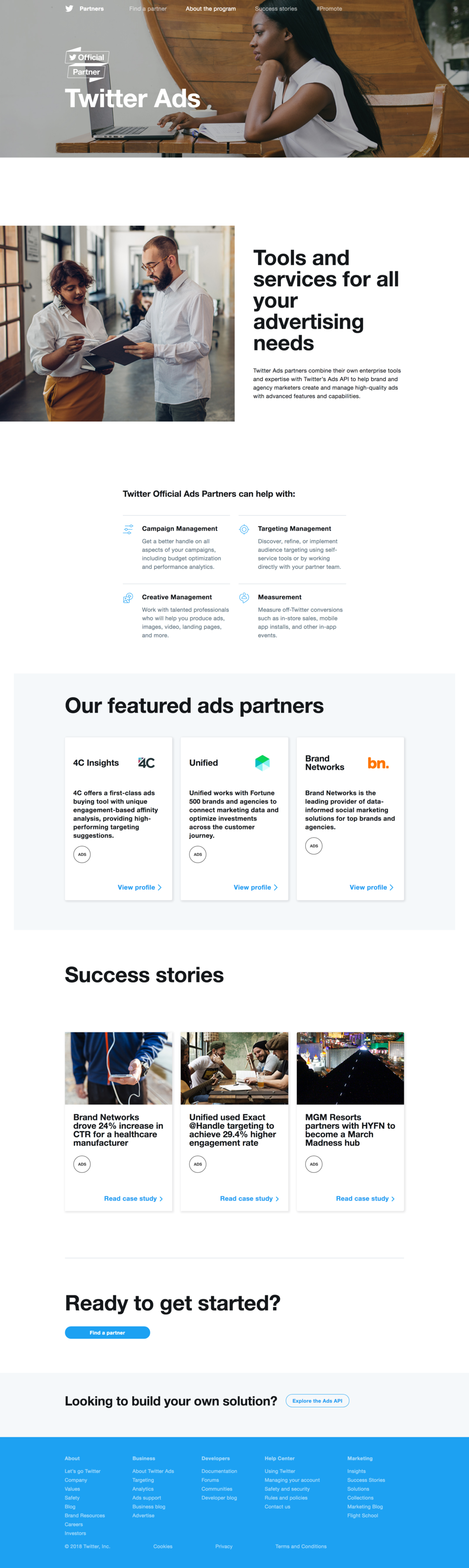 Copy of Twitter ads partner page