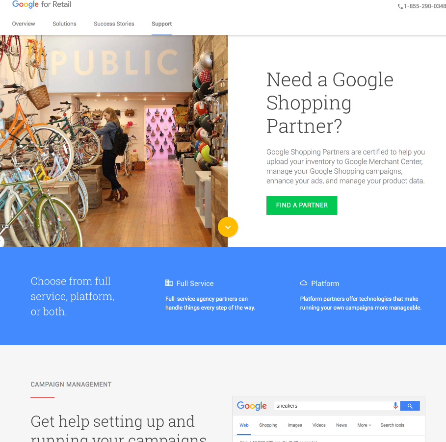 Google Partner sites - Google for Retail and Certified Publishing Partners program. UX, Content Strategy, Production for their websites. Creative program manager to Product Marketing Manager for AdSense, Certified Publishing Partners program and Contributor to Partners program manager.