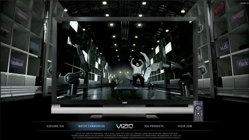 Vizio Via Super Bowl Microsite - Microsite, YouTube Channel and interactive videos boost exposure to Vizio's Super Bowl spot featuring Beyonce and internet memes. Production.