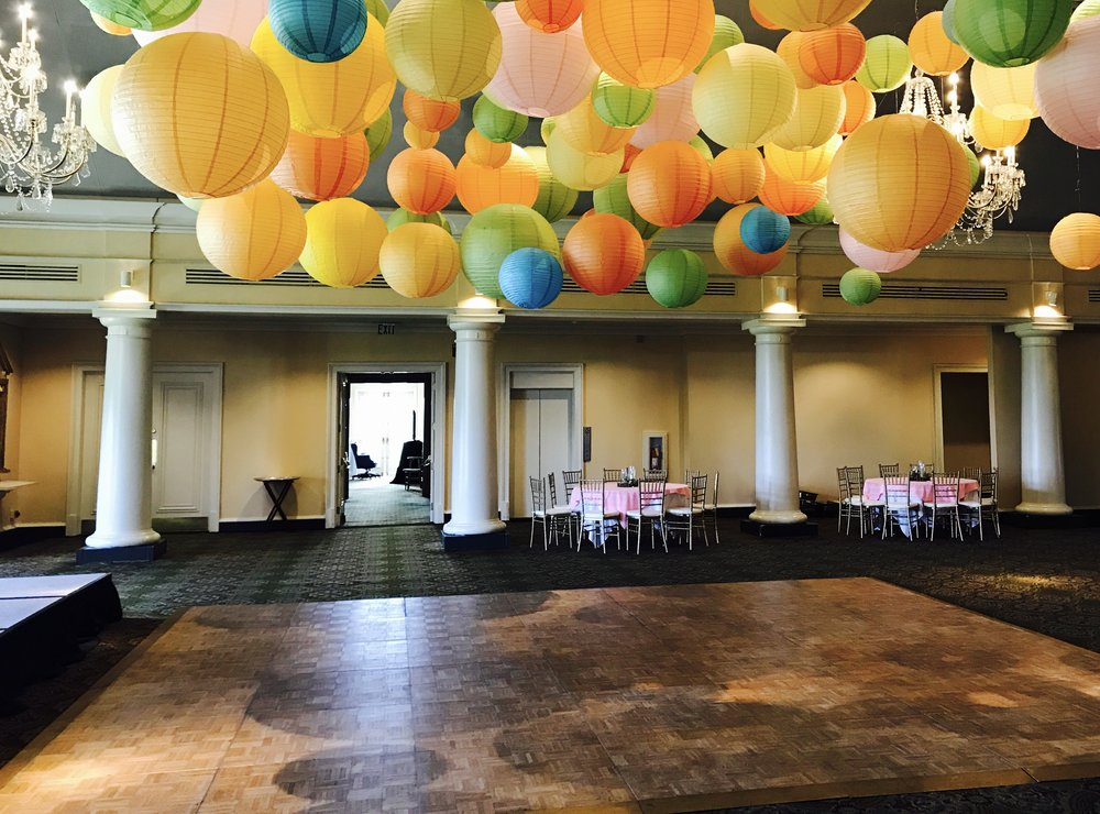 The ballroom  - Being decorated for an event (the paper lanterns were present only for this event)
