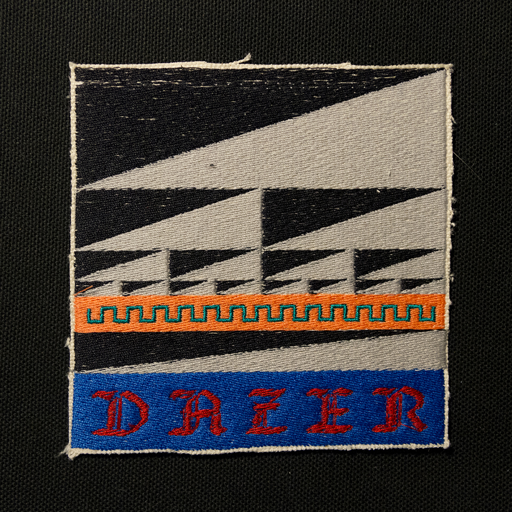 DAZER Flag , embroidered patch, 2018