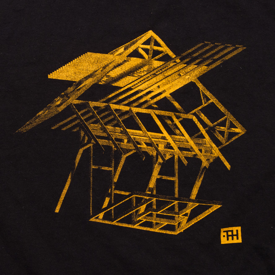 T-shirt design for The Pendleton House, screen print, 2014