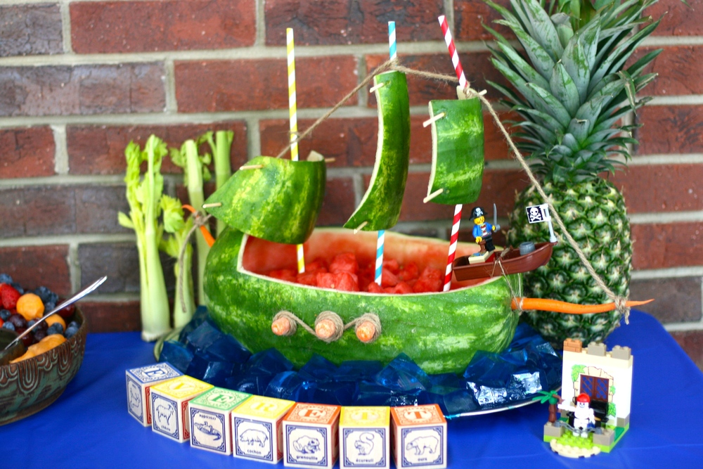 Watermelon pirate ship. Perhaps my second best creation.