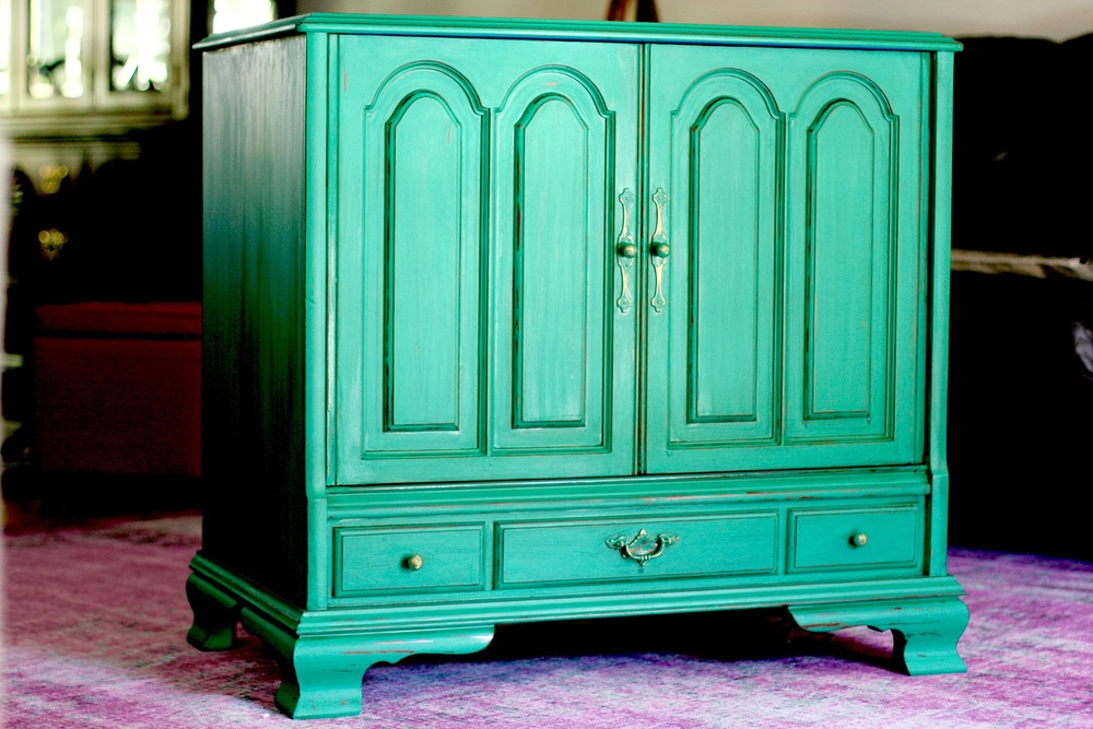Kelly Green Toy Cabinet