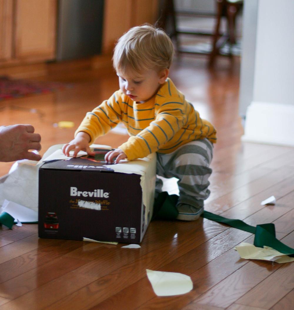 Opening a Williams Sonoma waffle maker for Everett2.jpg
