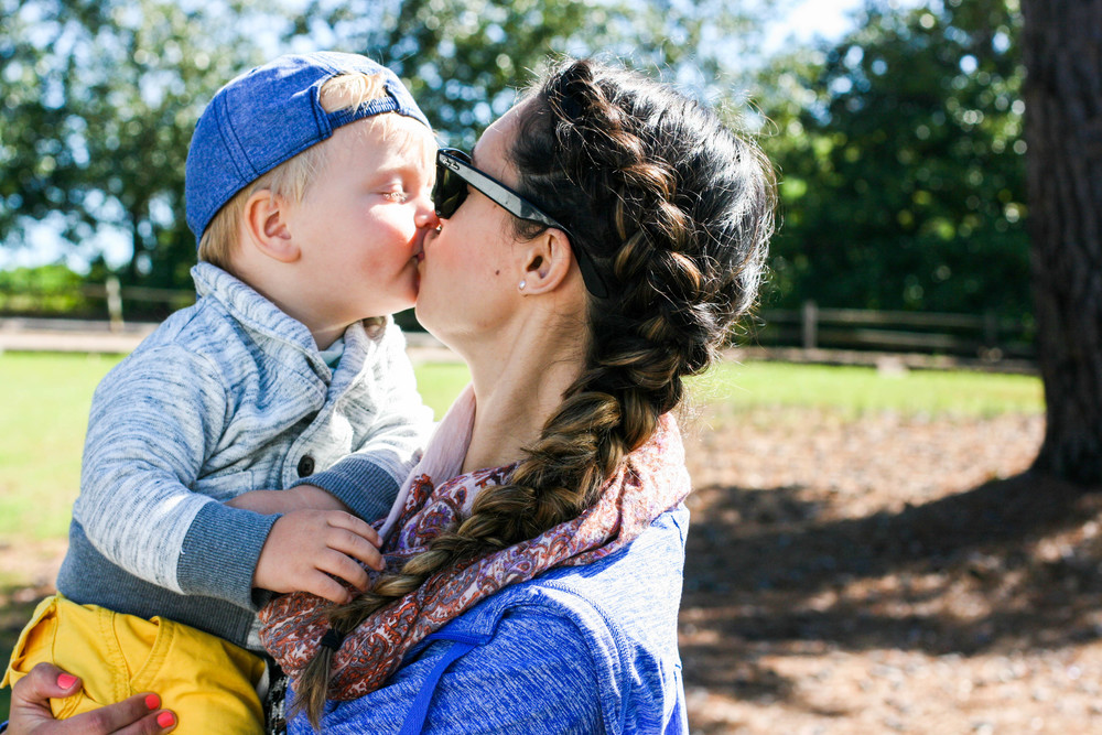 Mother and Son Kisses at Callaway Garden in Spring.jpg