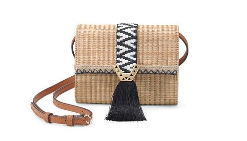 Nolita Small Crossbody Bag with Raffia Fringe - $69