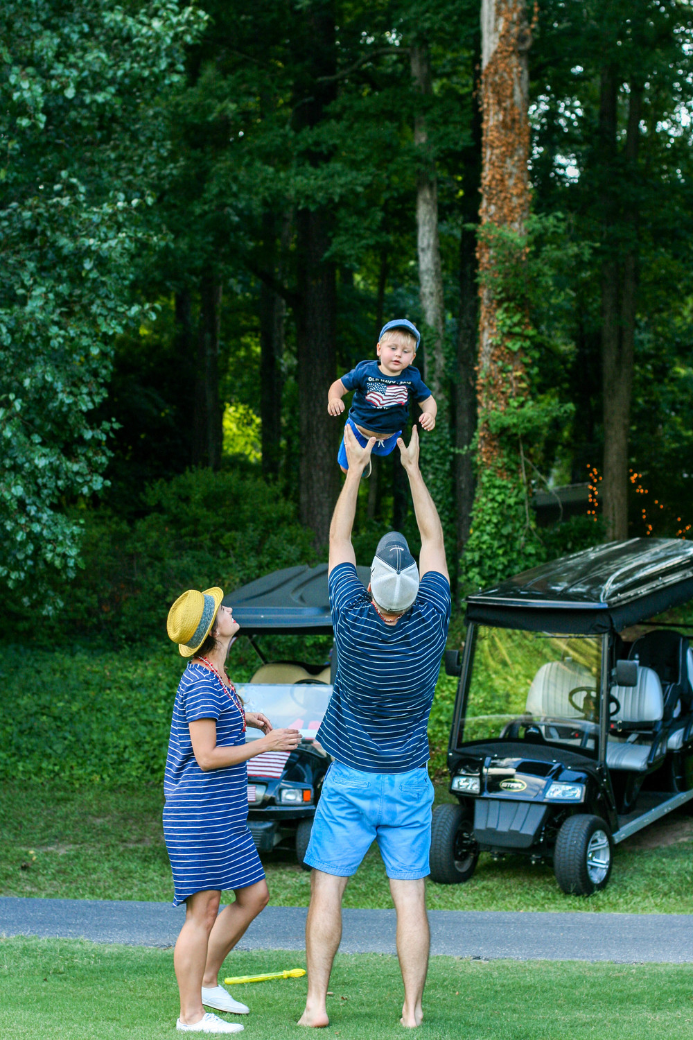 This makes me laugh because Everett looks so bored. While being tossed in the air?!