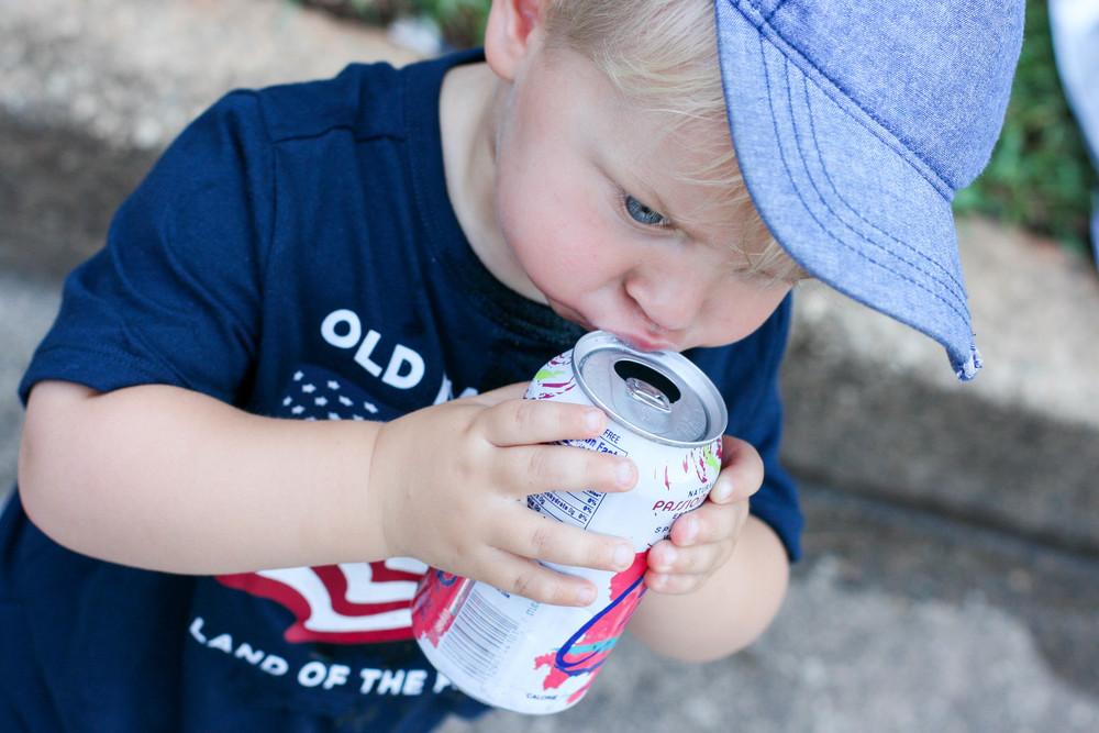 Kid stole my drink. Man he's lucky he's cute.