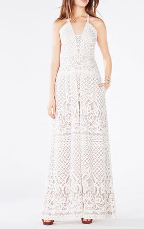 BCBG Christel Floral Lace Gown