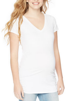 Side-Ruched Maternity Tee