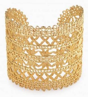 Stella & Dot Alila Gold Lace Cuff