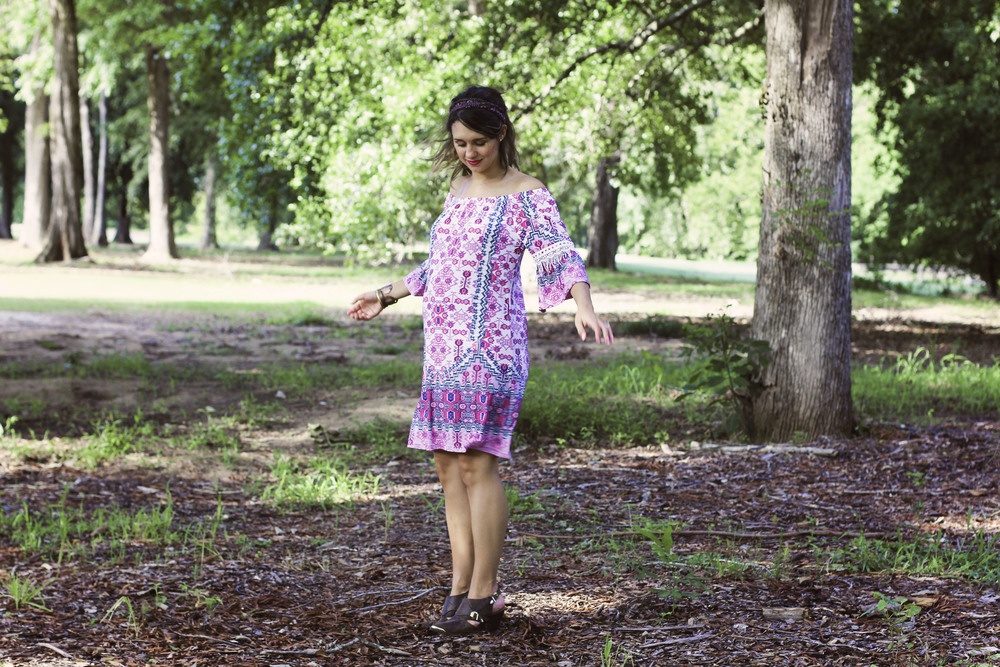1e78522bbaa Bohemian Pink Dress (+ a Giveaway with Pink Blush Maternity!) — OY ...