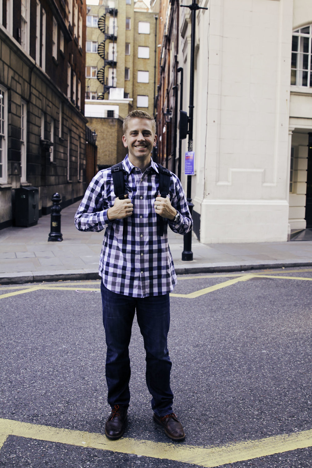 Cute man. He wore that backpack around for me, because it held all our camera gear. He's the kindest pack mule.
