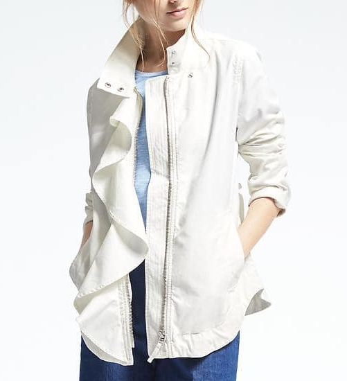 Ruffle Cotton Jacket
