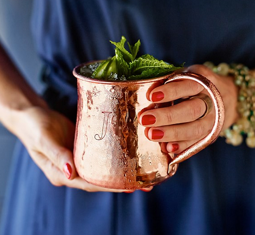 Hammered moscow mule mugs!