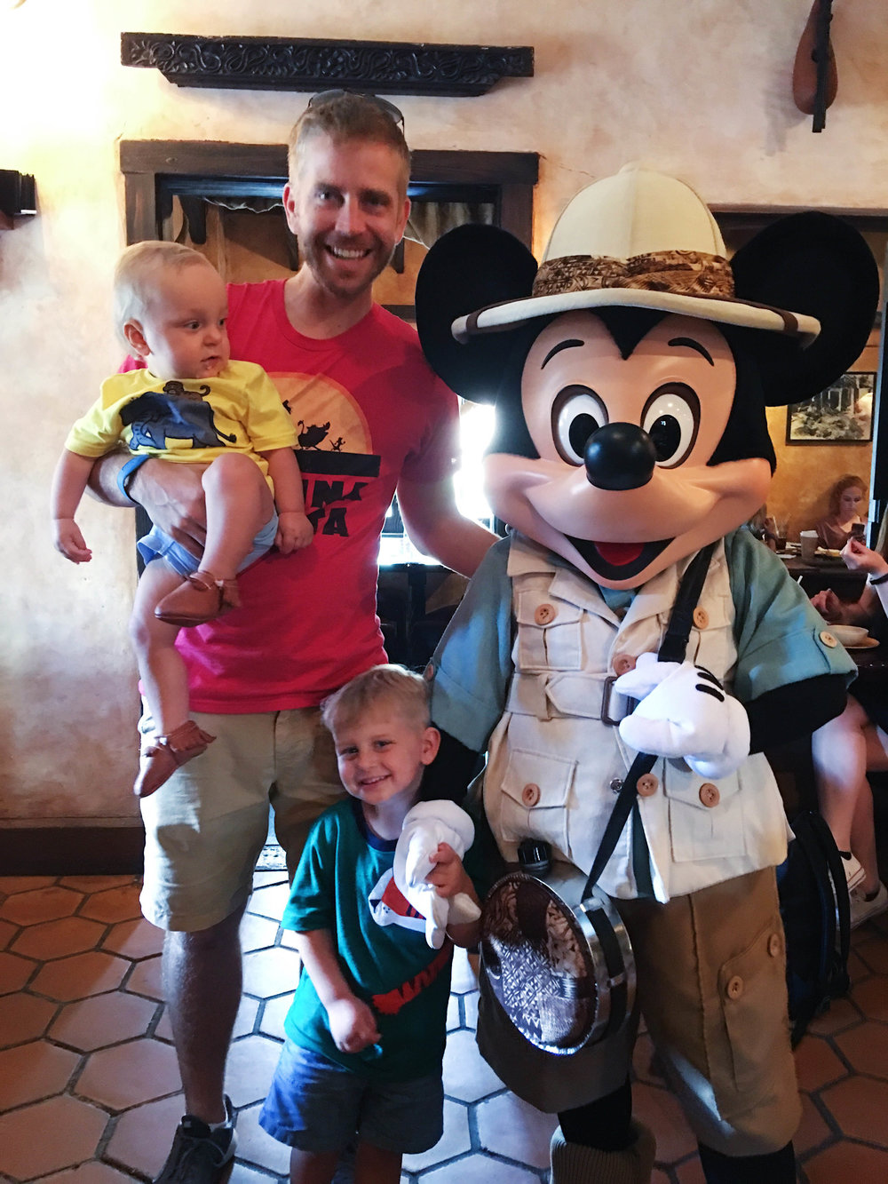 Everett met Mickey twice and LOVED him. Daxton hated every character he met. Please note both of their faces in the next few photos - they couldn't feel more differently about meeting characters. Pretty priceless.