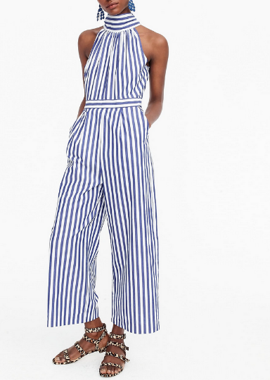 J. Crew Striped Jumpsuit