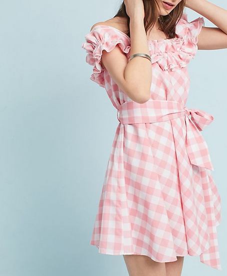 Anthro Gingham Mini