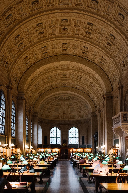 The beautiful Boston Public Library