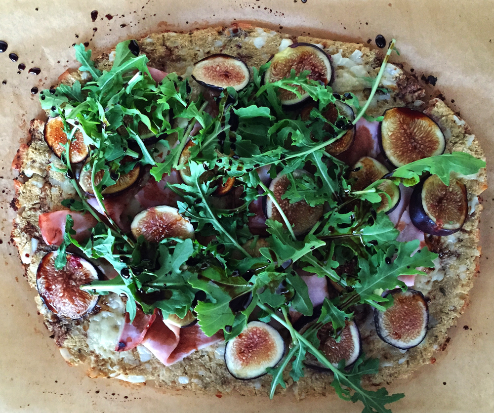 Fig, Ham and Arugula Flatbread