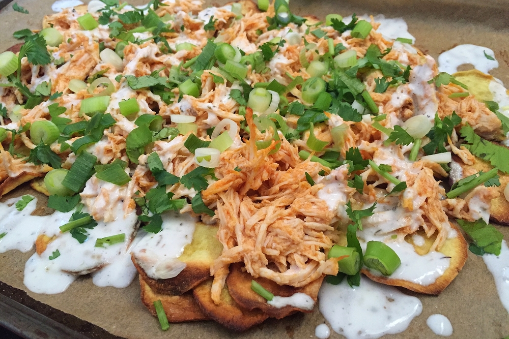 Buffalo Chicken Nachos | My Engineered Nutrition
