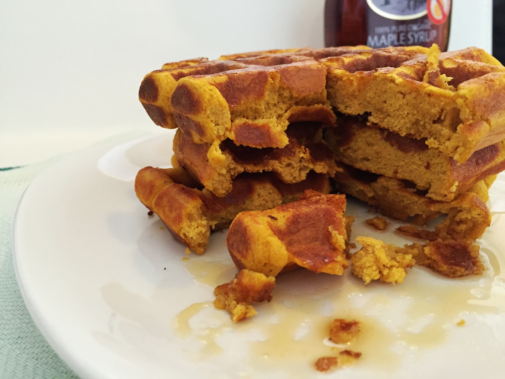 Pumpkin Protein Waffles | My Engineered Nutrition