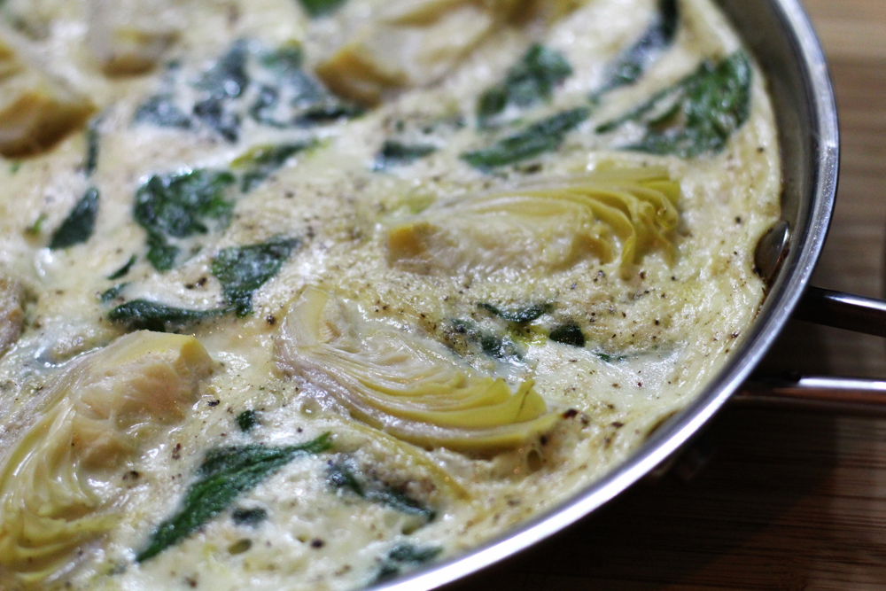 Spinach Artichoke Frittata | My Engineered Nutrition